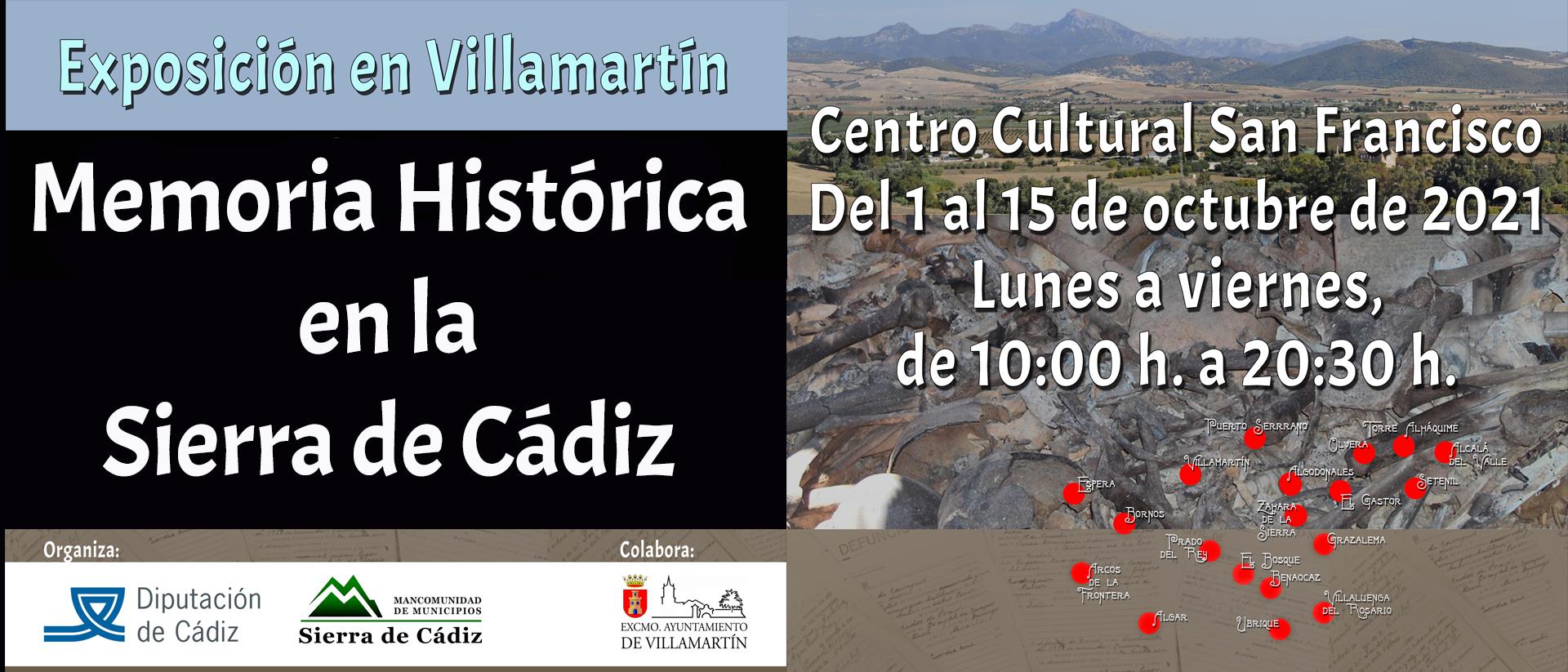 BANNER EXPOSICION MEMORIA HISTORICA EN LA SIERRA DE CADIZ